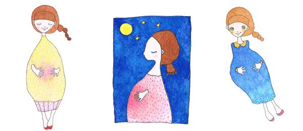 安産祈願 - 赤ちゃんが健康で無事に生れますよう、母親が妊娠五ヶ月目の戌(いぬ)の日に神社で安産を祈願します。